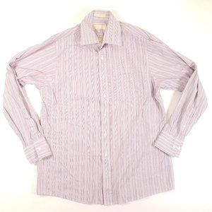 Michael Kors L/S Slim Tall Purple Striped Shirt